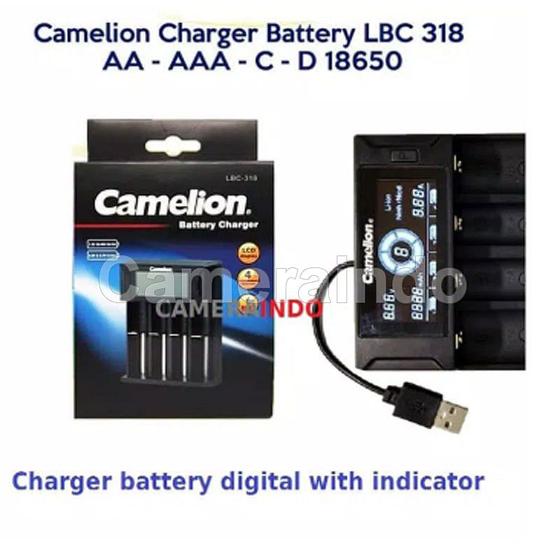 Camelion Charger Baterai Digital LBC318 LCD 4 SLot battery