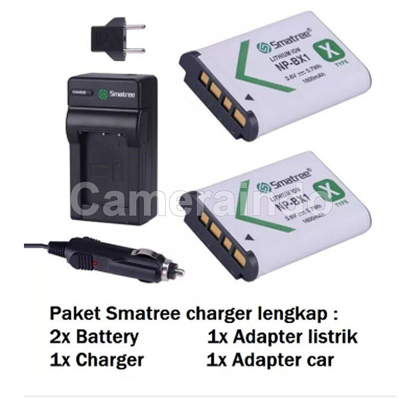 Battery Smatree Sony NP-BX1, NP-BX1/M8 & Charger - Combo 2 battery